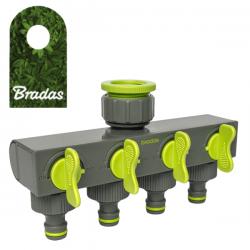 Rozdzielacz 4-drożny z zaworami LE-3033 BRADAS 0880