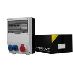 Rozdzielnica Schuko TD-S/FI 1x16A 2x230V + licznik
