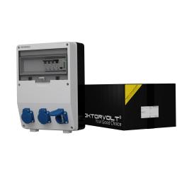 Rozdzielnica TD-S/FI 3x230V Schuko Typ F 1-faz licznik Doktorvolt® 2862