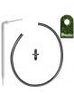 Długi kątowy kroplownik patykowy PREMIUM 2,2l/h z wkłuwką i wężykiem 50cm 0230