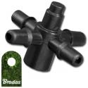 Czwórnik do emiterów i kroplowników patykowych wejście 4mm Bradas 1635