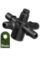 Czwórnik do emiterów i kroplowników patykowych 4mm na wąż 3,5mm Bradas 1635