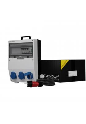 Rozdzielnica TD-S/FI 3x230V Schuko SKH kabel i licznik