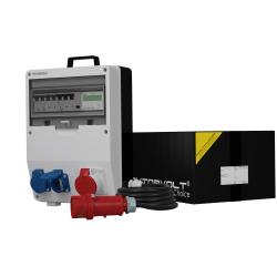 Rozdzielnica TD-S/FI 16A 2x230V z kablem i licznikiem
