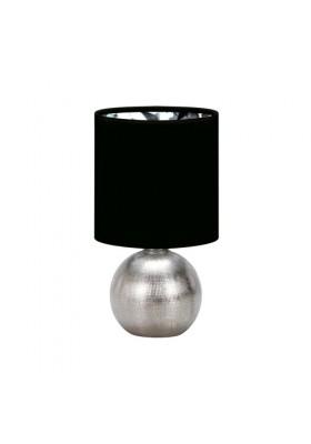 Lampka stołowa PERLO E14 SILVER/BLACK