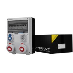 Rozdzielnica TD-S/FI 216A 2x230V IP65 Schuko