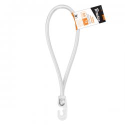 Guma elastyczna z hakiem PVC 0,4x25cm biała Bradas 5532