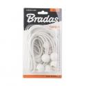 10szt. zestaw gum z kulką 10x15cm BUNGEE CORD BALL biały Bradas 5358