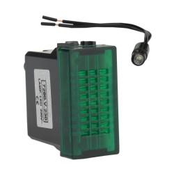 Kontrolka LED GREEN 230V Marlanvil 2147