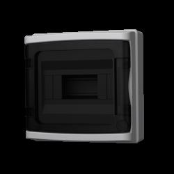 Rozdzielnica natynkowa HIGHT IP65 8 modułowa transparentne drzwi 940.08 M-L 4830