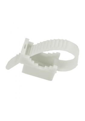 Uchwyt paskowy UP22 mm 100szt., biały, 12.1