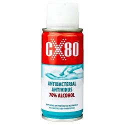 100 ml Preparat Antywirusowy Antybakteryjny 70% Alkoholu Do rąk i powierzchni CX80 0918