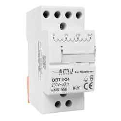 230V / 8 / 12 / 24 V  Transformator dzwonkowy na szynę XBS-CST  XBS 5931