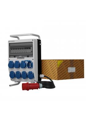 Rozdzielnica TD-S/FI 8x230V SKHU Schuko stojak kabel wtyczka 32A