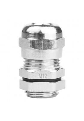M12 Dławik metryczny mosiądz niklowany