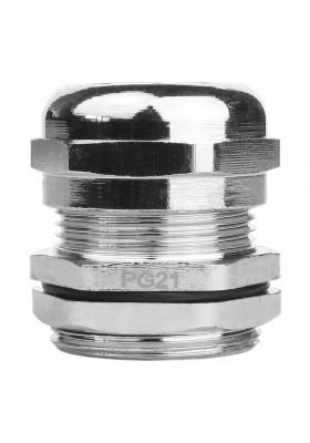 PG21 Dławnica kablowa mosiądz niklowany
