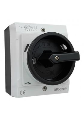 Rozłącznik trójfazowy łącznik krzywkowy 3x20A 4kW w obudowie szarej IP65 MX-320P XBS