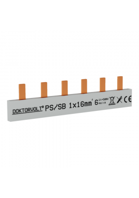 Szyna łączeniowa sztyftowa PS/S 1F 6Mod 16mm2