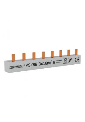 Szyna łączeniowa sztyftowa PS/S 3F 8Mod 16mm2