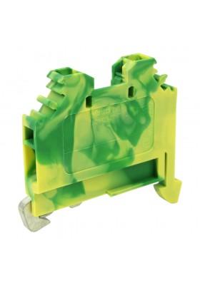 Złączka szynowa 4mm2 PE 2-przewodowa 1P Przelotowa Zaciskowa Żółto-zielona WAGO 9271