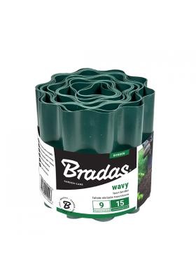 Obrzeże faliste trawnikowe palisada 9m/25cm zielone Bradas