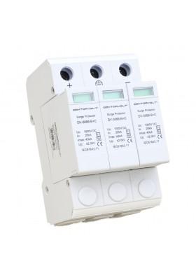 Ogranicznik przepięć 3P 1000V DC T1/T2
