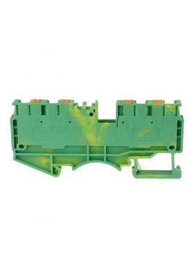 Złączka szynowa 4mm2 1P 4-przewodowa sprężynowa żółto-zielona PE 5804