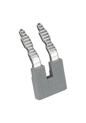 Mostek wtykowy grzebieniowy 2-torowy do złączek szynowych PC6