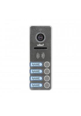 Wideo kaseta 4-rodzinna z kamerą szerokokątną. kolor. wandaloodporna. diody LED. do zastosowania w systemach VIBELL