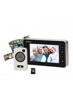 """Elektroniczny wizjer do drzwi 4.7"""" z funkcją nagrywania na kartę Micro SD. czujnikiem ruchu i menu w 9 językach. bateryjny"""