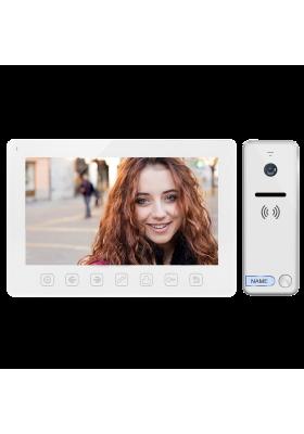 """Zestaw wideodomofonowy. bezsłuchawkowy. kolor. LCD 7"""". menu OSD. sterowanie bramą. biały NOVEO"""