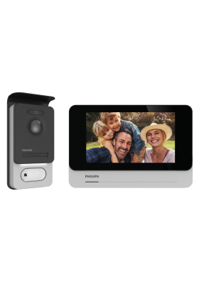 """Philips WelcomeEye Connect 2 Zestaw wideodomofonowy bezsłuchawkowy kolor LCD 7"""" dotykowy menu OSD WI-FI + APP na..."""