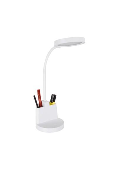 Biała lampka biurkowa LED z przybornikiem 8W SMD LED 8236