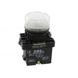 Kontrolka sygnalizacyjna 1W LED biała