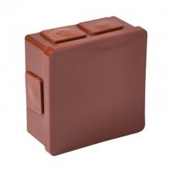 002-02 puszka n/t brązowa bez zacisków z dławnicami bezgwintowymi 6-wlotowa 80x80x32 IP55 ViPlast 7939