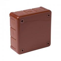 041-02 puszka n/t brązowa bez zacisków z dławnicami bezgwintowymi 12-wlotowa IP55 ViPlast 7243