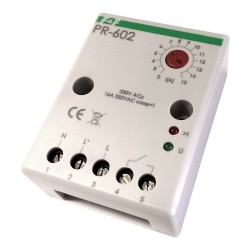Przekaźnik priorytetowy PR-602 230V 16A bezp. pod. montaż natablicowy F&F 5939