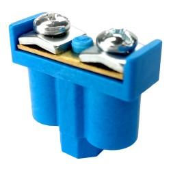 Zacisk podwójny 2x1-4mm2 niebieski do puszek przewodów