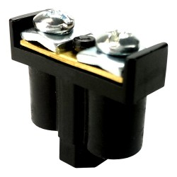 Zacisk podwójny 2x1-4mm2 czarny do puszek przewodów