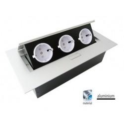GTV Przedłużacz biurkowy 3x230V schuko