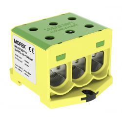Złączka szynowa 25-150mm2 żółto-zielona 6 otwor 1P