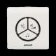 Dzwonek bezprzewodowy z bezbateryjnym przyciskiem 230V