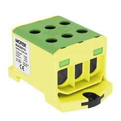 Złączka szynowa 1,5-50mm2 żół-ziel  6 otwor 1P