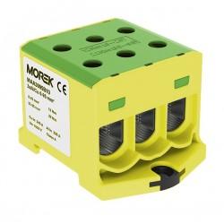 Złączka szynowa 6-95mm2 żół-ziel 6otwor zacisk 1P