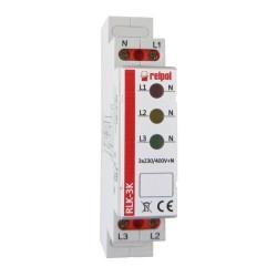 Kontrolka sygnalizacyjna 3-fazowa czerwona żółta zielona RLK-3K Relpol 8780