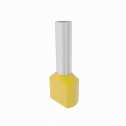 10szt. 2x6/14mm Końcówka tulejkowa izolowana podw. żółta TE6014 Elpromet 0392