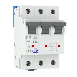 B32A 3P 10kA Wyłącznik nadprądowy bezpiecznik Typ S eska PR63 SEZ 0623
