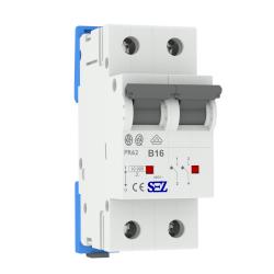 B16A 2P 10kA Wyłącznik nadprądowy bezpiecznik Typ S eska PR62 SEZ 0418