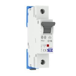 Wyłącznik nadprądowy C16A 1P, bezpiecznik Typ S, PR61 SEZ
