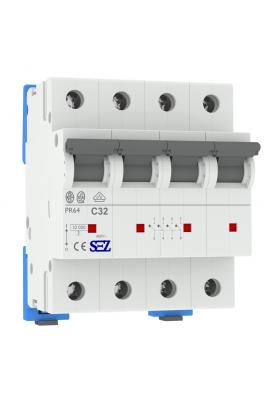 Wyłącznik nadprądowy PR64 C32A 4P 10kA 3P+N